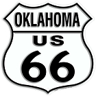 Route 66 OK Shield Sign