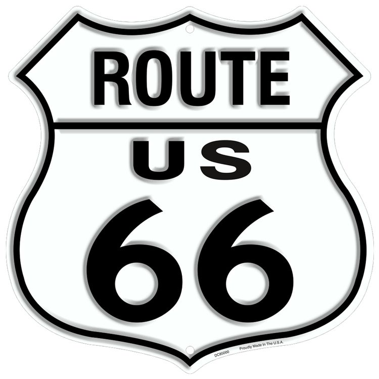 Route 66 Shield Sign
