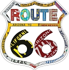 Route 66 Plate Border Shield