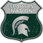 Michigan State Spartan Nation Shield