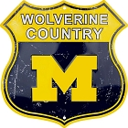 Michigan Univ Wolverine Country Shield