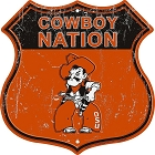 Oklahmoa State Cowboy Nation Shield