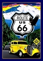 Mother Road Route 66 40's Auto Metal Sign