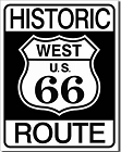 Route 66 West Metal Tin Sign
