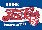 Pepsi Cola Drink 5 Cent Metal Sign