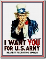 US Army - I Want You Metal Tin Sign