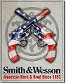 Smith & Wesson American Born Metal Tin Sign