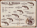 Smith & Wesson Revolvers Metal Tin Sign