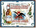 Budweiser - Anheuser Bottled Metal Tin Sign