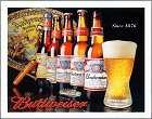 Budweiser History Metal Tin Sign