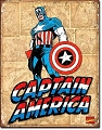 Captain America Panels Metal Tin Sign