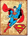 Superman Weathered Metal Tin Sign