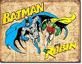 Batman & Robin Weatherd Metal Tin Sign