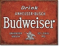 Budweiser Drink Metal Tin Sign
