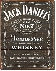 Jack Daniel's Wood Cut Logo Metal Tin Sign
