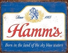 Hamm's Sky Blue Waters Metal Tin Sign