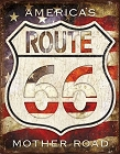 Route 66 America's Metal Tin Sign