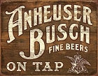 Anheuser Busch Fine Beers Metal Tin Sign