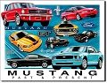 Ford - Mustang Chronology Metal Tin Sign