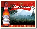 Budweiser - King of Beers Metal Tin Sign