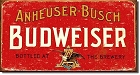 Budweiser Weathered Metal Tin Sign