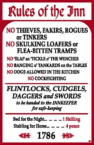 Rules of The Inn Metal Sign