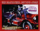 3 Stooges Fire Department Metal Tin Sign