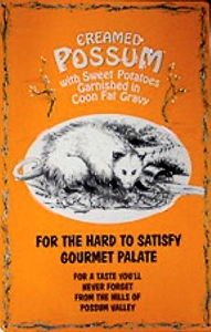 Creamed Possum Metal Sign