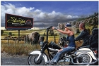 Heading for Sturgis Metal Sign
