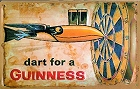 Dart for a Guinness Metal Sign