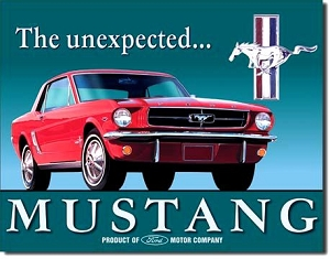 Ford Mustang Unexpected Metal Sign