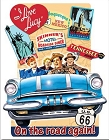 Lucy on the Road Route 66 Metal Tin Sign