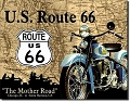 Route 66 Cycle Metal Tin Sign