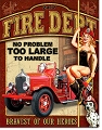 Fire Department Metal Tin Sign