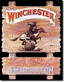 Winchester Express Rider Metal Tin Signting