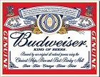 Budweiser Label Metal Tin Sign