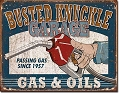 Busted Knuckle Garage Gas & Oil Metal Tin Sign