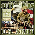 Army All Amer Outfitters Metal Sign