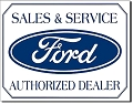 Ford Sales & Service Metal Tin Sign