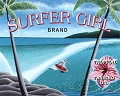 Surfer Girl Brand Metal Sign
