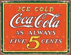Coke Always Metal Tin Sign