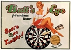 Bullseye Beer Darts Metal Sign