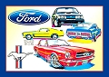 Ford - Mustang Collage Metal Sign