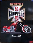 Foxworthy Choppers Metal Sign