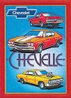 Chevelle - 3 Cars Metal Sign
