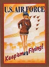 Air Force Girl - Keep em Flying Metal Sign