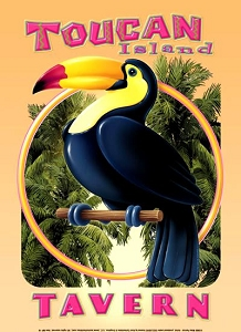 Toucan Island Tavern Metal Sign