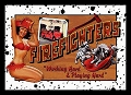 Firefighters Metal Sign