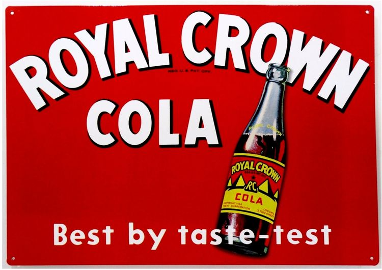 Royal Crown Cola Bottle Metal Sign