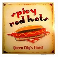 Red Hot Metal Sign